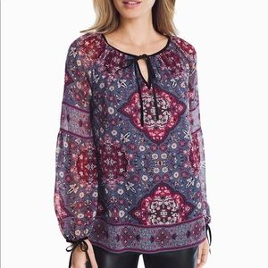 NWOT WHBM Boho Floral Top